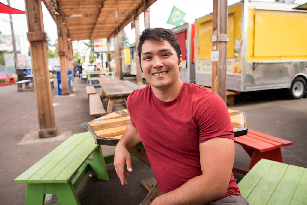 Chris Bailey, owner of Pozole to the People and Bloom Caramel, packaged food businesses